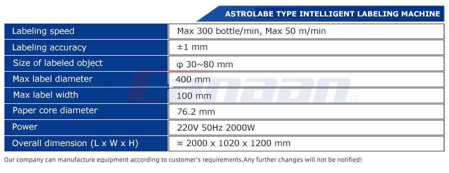 BR300 Series Astrolabe type intelligent labeling machine